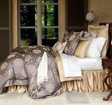 Sferra TARSIA Duvet Cover F/Queen SLATE Egyptian Cotton Sateen Jacquard New