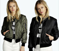 Fashion Ladies Womens Long Sleeve Zipper Coat Jacket Short Coat Casual Outerwear