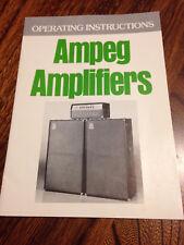 vintage '76 AMPEG guitar bass amp manual SVT, B25, V4, G212, VT22, & more, MINT!