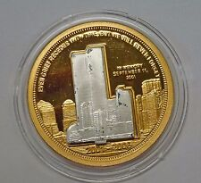 {BJSTAMPS}  2001-2006 September 11 Commemorative medal w/ removable towers
