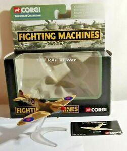 CORGI FIGHTING MACHINES THE RAF AT WAR SUPERMARINE SPITFIRE NEVILLE DUKE CS90266