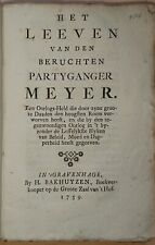 Het Leeven van den beruchten Partyganger Meyer 1759 Een Oorlogs-Held Kriegsheld