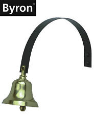 Byron Traditional Brass Shop/Store Front/Back Door Spring Service Bell BYR62503