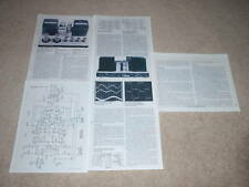 Luxman MB-3045 Tube Amplifier Review, 1978, 5 pgs, Full Test, Specs, Schematic