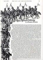 1896 Artikel ~Indischer Kavallerie~ 25,000 Offiziere & Herren ~ Britisch Empire