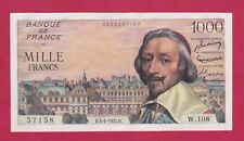 (Ref: W.108 B)  1000 FRANCS RICHELIEU 3/02/1955 (SUP+) RARE
