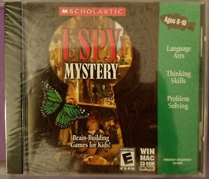 I SPY Mystery Win/Mac CD Scholastic Software NEW Rated E, Brain-Based Games $LOW