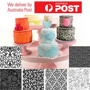 Texture Sheet Set FLORAL (SET of 6) Cookie Cake Decorating Flower Texture Sheet