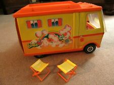 Vintage 1970 Mattel Barbie Country Camper with 2 chairs, good condition