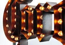 Corona Extra Bier Glühlämpchen - Leuchtreklame aus Kupfermetall, Leuchtwerbung