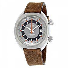 ORIS 733 7737 4053FLBR Men's Automatic Watch CHRONORIS Date Fast Ship Japan EMS