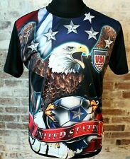 USA Soccer ALL OVER PRINT T-Shirt Jersey Women's World Cup United States Men's L