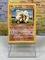 SHIPS SAME DAY ARCANINE Base Set 2 33/130 Uncommon Pokemon Card Unlimited Ed. NM