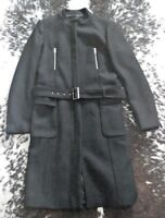 ZARA NWT Black Military Minimal Studio Long Coat Sz XL Burberry