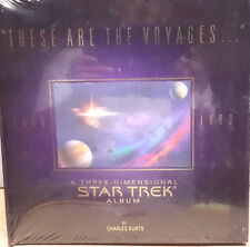 These Are the Voyages. Star Trek 3-D Album Hardcover Book- Free S&H (C5906)