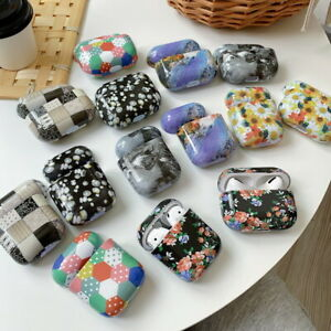 For Apple AirPods 1st 2nd AirPods Pro Glossy Pattern Hard PC Case Earphone Cover