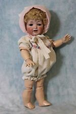 "11.5"" Antique JDK Kestner 211 Character Toddler Doll Original Skin Wig CUTE!!"