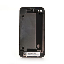 Black Genuine Glass Battery Back Cover Door Replacement For iPhone 4 A1332 JR