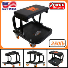 Rolling Creeper Seat Mechanic Stool Chair Garage Work Shop Tool Tray Auto Car