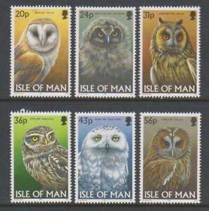 Isle of Man - 1997, Owls set - MNH - SG 734/9