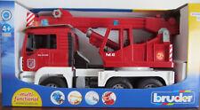 BRUDER 02770 man Feuerwehr Kran-lkw Licht Sound Neu/ovp