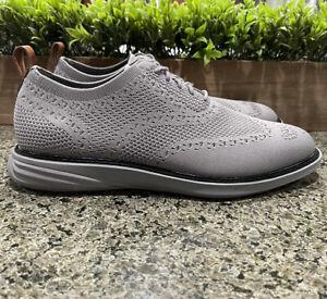 Cole Haan Grand Evolution Gray Stitchlite Wingtip Oxford Shoes C32154 Men's 9 M
