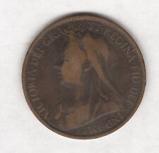 1896 QUEEN VICTORIA ONE PENNY COIN #A