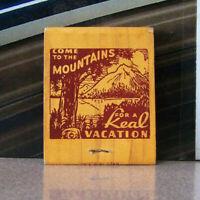 Vintage Matchbook X3 Alberta Canada Palisades Hotel Lodge Jasper Park Vacation