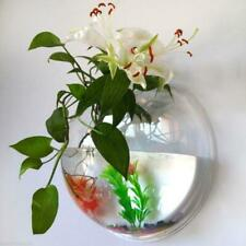 Wall Mounted Fish Tank Pot Bowl Bubble Aquarium Hanging Terrarium Home Decal UK