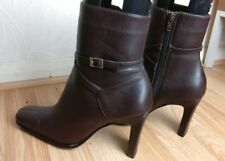 LOTUS WOMEN BROWN LEATHER ANKLE BOOTS HIGH HEEL WINTER SHOES SIZE UK 5.5 EU 38.5