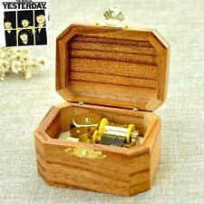 Natural Wood Octagon Wind Up Music Box : YESTERDAY @ BEATLES