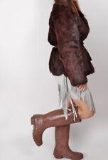 HUNTER Original Tall Rubber Rain Boots Brown Size 8 M