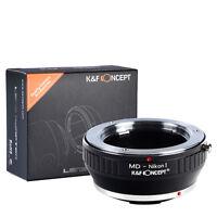 K&F Concept Objektivadapter für Minolta MD Objektiv auf Nikon 1 kamera V1 J1