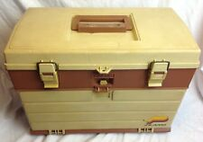 VINTAGE PLANO 757 FISHING TACKLE BOX - 4 DRAWER WITH TOP COMPARTMENT