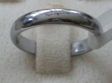 Band Size: 10.5 (Mens or Womens) 4mm Tungsten Carbide Silver Polished Wedding