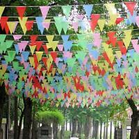 Drapeaux colorés 260Feet 80M Triangle Bunting bannière Pennant Festival DIY  FW