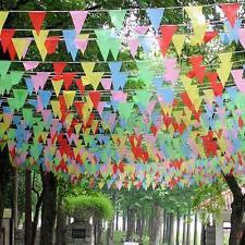 Drapeaux colorés 260Feet 80M Triangle Bunting bannière Pennant Festival DIY 01