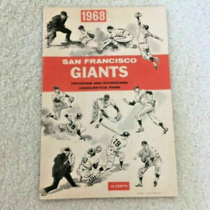 1968 Gaylord Perry No Hitter Program San Francisco Giants V Cardinals Bob Gibson