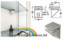 PAIR STAINLESS STEEL DISIGNER MODERN GLASS SHELF SUPPORT CLAMP BRACKETS 5mm-10mm