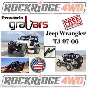 Jeep Wrangler TJ 97-06 Front GraBars Hard Mount Solid Steel Handle Bars 4x4