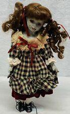 CLAUDIA OOAK Scary Creepy Doll Reborn Halloween Fangs 12″ Pigtails