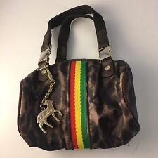 LAMB Gwen Stefani LeSportsac TINY Handbag Leopard Print RASTA Gold Hardware