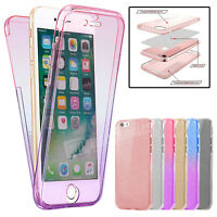 Case For iPhone 5 8 7 6s Shockproof 360° Silicone FULL BODY Clear Cover