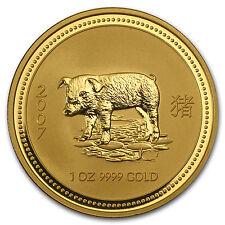 2007 Australia 1 oz Gold Lunar Pig BU (Series I) - SKU #18474