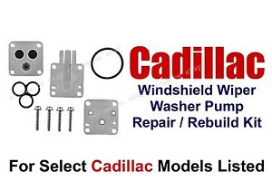 Windshield Washer Pump Repair Rebuild Kit Select 1970-92 Cadillac Models 11-101