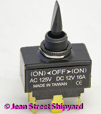 Marine Boat DPDT Sealed 3 Position Momentary Toggle Switch On-Off-(Mom On) 12031
