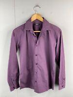 RDX Men's Long Sleeve Button Up Shirt Size XS Burgundy