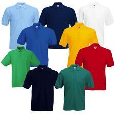 Mens Short Sleeve 3 Pack Polo T-Shirt Top Tee Plain Sports Casual Golf Fashion