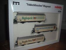 """Marklin  """"Feldschlosschen""""  Bier  Wagon  Set  (three  wagons)"""