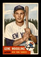 1953 Topps Set Break # 264 Gene Woodling EX-MINT *OBGcards*